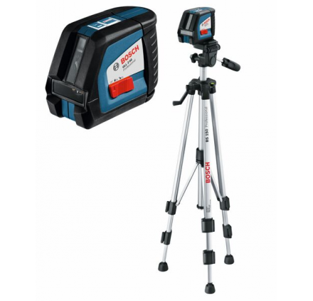 Pack Laser croix GLL 2-50 Bosch + trépied laser BS 150 Bosch