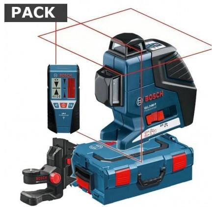 Pack Laser GLL 2-80 P Bosch + support BM 1 + cellule LR2 + L-BOXX