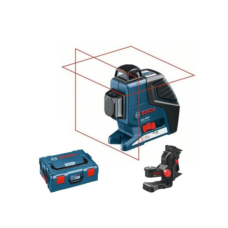 Pack niveau laser bosch gll 2 80 p support bm1 coffret for Niveau laser exterieur bosch