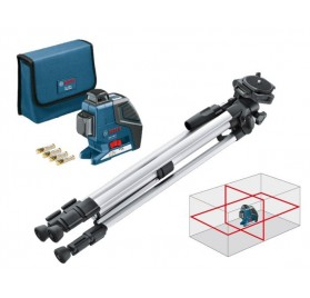 Pack Niveau laser GLL 2-80 P Bosch + trépied BOSCH BS 150 + Housse GLL 2 80P