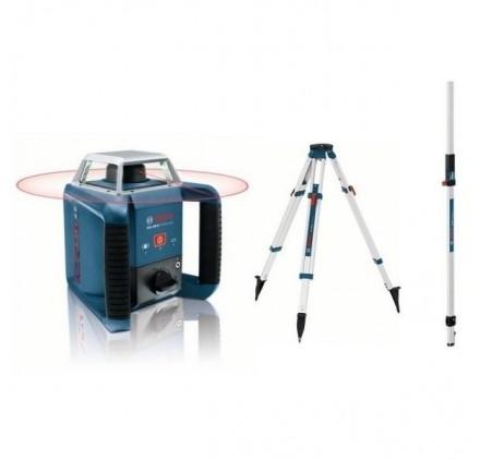 Pack Laser rotatif GRL400H Bosch + Trépied + Mire GR 240