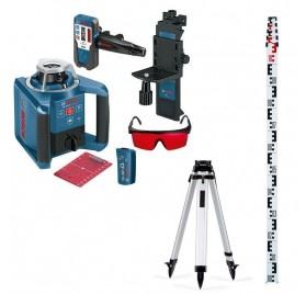 Pack Laser automatique rotatif GRL 300 HV Bosch avec trépied et mire