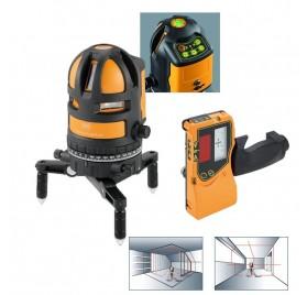 Niveau laser automatique 5 lignes haute visibilité FL 55 PLUS HP Geofennel avec cellule