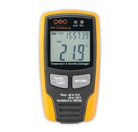 Enregistreur de température et d'humidité FHT 70 Datalog Geofennel