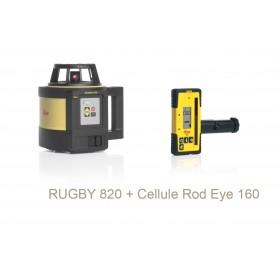 LEICA RUGBY 820 - Ensemble laser Leica Rugby 820 avec récepteur laser Rod Eye 160