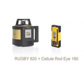 RUGBY 820 - Laser rotatif RUGBY 820 Leica et cellule réception laser ROY EYE 180RF