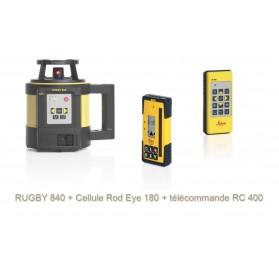 Laser automatique horizontal vertical LEICA RUGBY 840 + Rod 180RG + télécommande RC 400