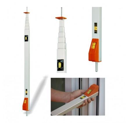 Mesureur fenetre - Volet roulant - Canne 2 metres Messfix a pointes