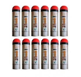 FLUO TP ROUGE - Carton de 12 Traceurs Soppec Rouge Fluo
