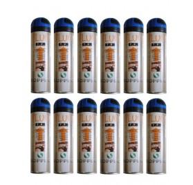 FLUO TP BLEU SOPPEC - Traceur chantier bleu fluo - Carton de 12