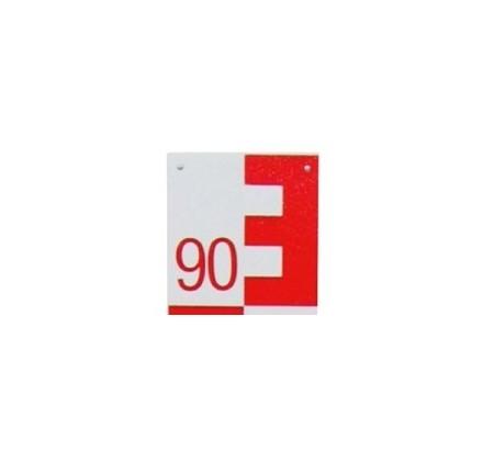 Mire d'eau - Mire limnimétrique - rouge sur fond blanc - Chiffraison 90-00