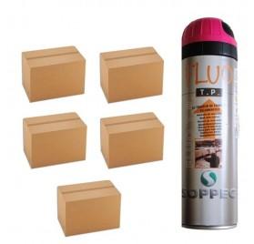 5 cartons de traceurs de chantier FLUO TP ROSE - Prix des 5 cartons de 12