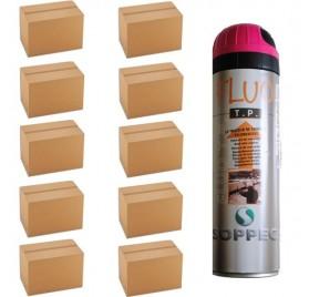 10 cartons de traceurs de chantier FLUO TP ROSE - Prix des 10cartons de 12