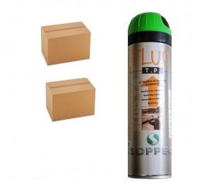 2 cartons de traceurs de chantier FLUO TP VERT - Prix des 2 cartons de 12