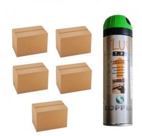 5 cartons de traceurs de chantier FLUO TP VERT Soppec - Prix des 5 cartons de 12