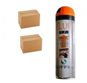 2 cartons de traceurs de chantier FLUO TP ORANGE - Prix des 2 cartons de 12
