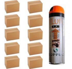 10 cartons de traceurs de chantier FLUO TP ORANGE - Prix des 10 cartons de 12
