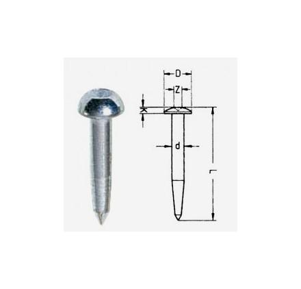 Clou de Géometre Acier 10Z Metland 50mm - Sachet de 100
