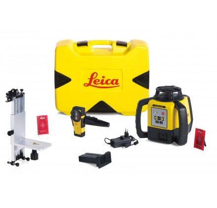 Pack Laser LEICA RUGBY 640 Lithium Ion, Rod Eye Basic, Support mural