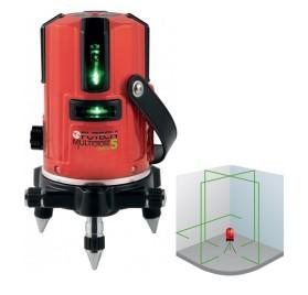 MULTICROSS 5 GREEN - Laser de ligne vert - 5 lignes - Accus Lithium ion - AVEC CELLULE