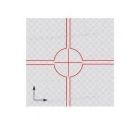 Feuille réflechissante 20x20mm type LEICA - Lot de 20