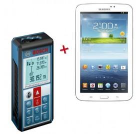 Télémetre Bosch GLM 100 C avec SAMSUNG Galaxy Tab 3