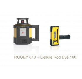 Laser Leica Rugby 810 avec cellule de réception Rod Eye 160 Digital