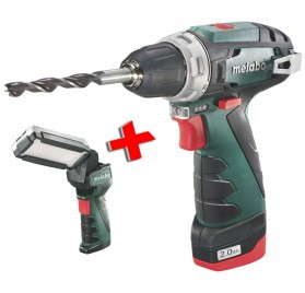 Perceuse-visseuse Powermaxx BS Basic Metabo + 1 lampe SLA LED offerte!