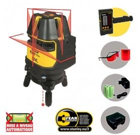 Niveau laser vert 360 multilignes automatique stanley x3 for Niveau laser exterieur stanley