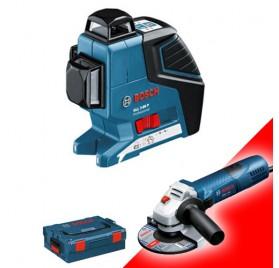 Laser Bosch GLL 3-80 P coffret L-boxx + 1 meuleuse GWS 7-125 Bosch Offerte !