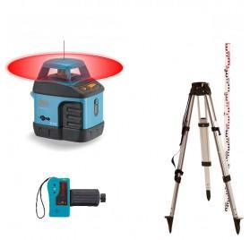 Pack laser rotatif automatique EL515 Geofennel écoline + trépied alu + mire alu4x1m