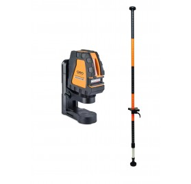 Niveau laser croix automatique FL 40 PowerCross Geo Fennel + Canne 3.40m
