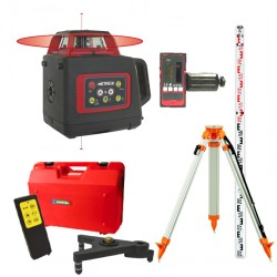 Pack Laser rotatif automatique SL-Red METRICA avec trépied + mire