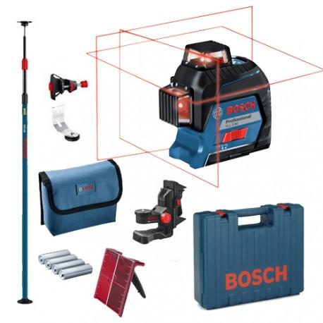 Laser 360 GLL 3-80 Bosch avec BM1 Plus et Canne