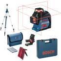 Laser GLL3-80 Bosch en coffret L-boxx + Trépied colonne BOSCH BT300HD