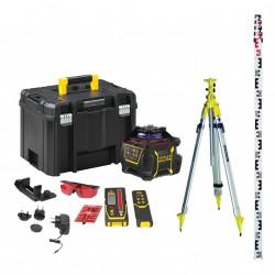 Laser automatique Stanley RL600L avec cellule, trépied colonne et mire