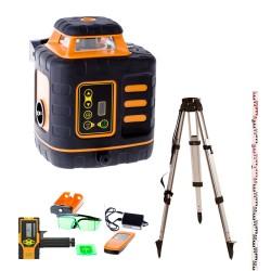 Laser rotatif vert FLG 210 Geofennel + Trépied et Mire