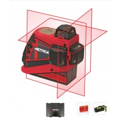 Laser 3 lignes 360° METRICA 3D Rouge
