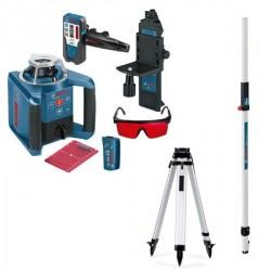 Pack Laser automatique rotatif GRL 300 HV Bosch avec trépied et mire Gr240