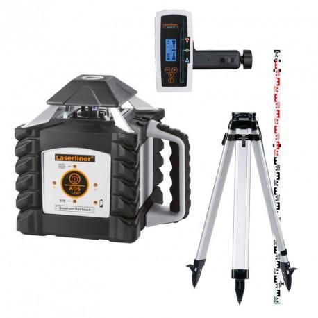 Laser automatique Quadrum OneTouch 410S Laserliner avec trépied et mire