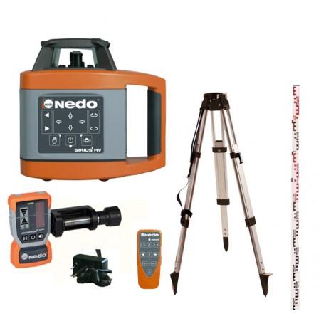 Pack laser rotatif automatique SIRIUS 1 HV Nedo avec trépied et mire